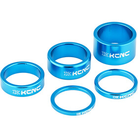 "KCNC Headset Spacer 1 1/8"" 3/5/10/14/20mm blau"